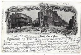 Souvenir De Dwinsk : Multiviews, Rue De St-Petersbourg - Russland