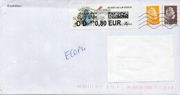 "FRANCE : VIGNETTE D'AFFRANCHISSEMENT ""MUSEE DE LA POSTE"" Sur Lettre - 2010-... Illustrated Franking Labels"