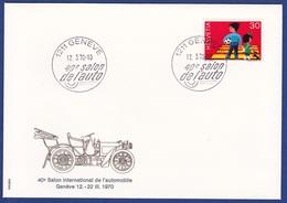 40e Salon De L'auto 1970 (aa1461) - Poststempel