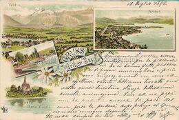 OLD POSTCARD - AUSTRIA - CARINZIA - LITHO - GRUSS AUS WORTHER SEE - VIAGGIATA 1898 - T72 - Velden