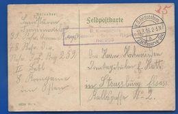 FELDPOSTKARTE   Rgt 78 Reserve Div  8° Compagnie   Oblitération:  15/3/1916 - Allemagne