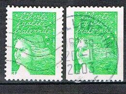 (sans Valeur) Vert Classique + Provenant De Roulette - 1997-04 Marianne Du 14 Juillet