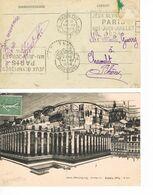 2 OBLITERATIONS JEUX OLYMPIQUES 1924 - RUE JOUFFROY - MARSEILLE - - Ete 1924: Paris