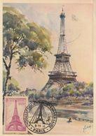 Carte Maximum -  Paris - La Tour Eiffel - Radioélectriciens XXVe Anniversaire - Brieven En Documenten