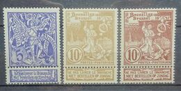 BELGIE 1896    Nr. 71 - 73        Postfris **    CW 25,00 - 1894-1896 Exhibitions