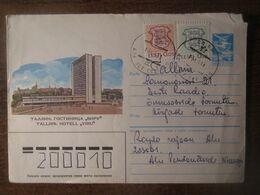 1991 ESTONIA INFLATION MIXED FRANKING HOTEL VIRU COVER - Cartas