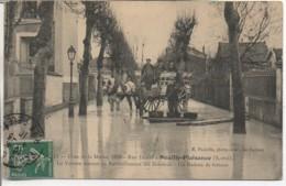 93 NEUILLY-PLAISANCE  Crue De La Marne 1910 La Voiture Servant Au Ravitaillemnt Des Sinistrés - Neuilly Plaisance