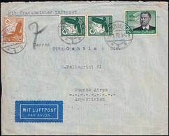 Mit Französischer Flugpost HAMBURG 29.1.37 Mit 538 Zeppelin 2 RM Mit Zusatzfr. - Timbres