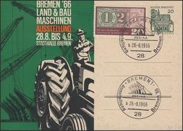 Pk 20 Pf Lorsch/grün BREMEN'66/Numerator SSt 28.8.66 - Ohne Zuordnung