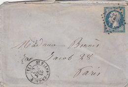 LETTRE. 23 AOUT 62. N° 14. ST VALERY EN CAUX. SEINE INFERIEURE. PC3299 - 1849-1876: Classic Period