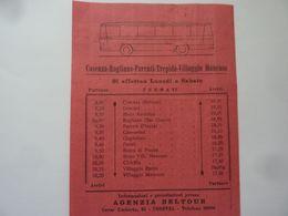 """Foglietto Orario """"GRAN TURISMO SILANO AUTOLINEE PREITE Stagione Turistica LUGLIO - SETTEMBRE 1962"""" - Europe"""