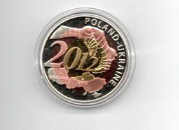 POLEN MEDAL VOETBAL POLEN - UKRAINE 2012 FOOTBALL BICOLOUR - Tokens & Medals