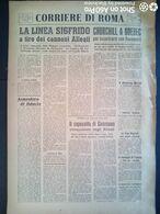 FASCISMO - CORRIERE DI ROMA N° 98 -  11 SETTEMBRE 1944 - CHURCHILL INCONTRA ROOSEVELT A QUEBEC - Guerre 1939-45