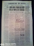 FASCISMO - CORRIERE DI ROMA N° 101 -  14 SETTEMBRE 1944 - CROLLANO I PRIMI BASTIONI DELLA FORTEZZA TEDESCA - Guerre 1939-45