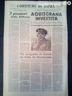 FASCISMO - CORRIERE DI ROMA N° 102 -  15 SETTEMBRE 1944 - URAGANO DI FUOCO SU TUTTA LA GERMANIA - Guerre 1939-45