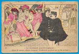"""CPA Xavier SAGER Humour Satirique Coquine """"Allons Mesdames...profitez-en Pendant Que Je L'ai En L'air"""" (Agent De Police) - Sager, Xavier"""