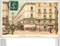 44 NANTES. Pont Et Rue D'Orléans 1909 - Nantes