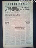 FASCISMO - CORRIERE DI ROMA N° 105 -  18 SETTEMBRE 1944 - L'OLANDA INVASA DALL'ARIA - Guerre 1939-45