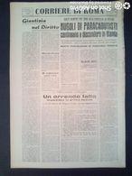 FASCISMO - CORRIERE DI ROMA N° 106 -  19 SETTEMBRE 1944 - EX DIRETTORE REGINA COELI UCCISO X ERRORE DALLA FOLLA - Guerre 1939-45