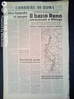 FASCISMO - CORRIERE DI ROMA N° 108 -  21 SETTEMBRE 1944 - AVANZATA ALLEATA IN OLANDA - Guerre 1939-45