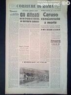 FASCISMO - CORRIERE DI ROMA N° 109 -  22 SETTEMBRE 1944 - IL QUESTORE PIETRO CARUSO CONDANNATO A MORTE - Guerre 1939-45