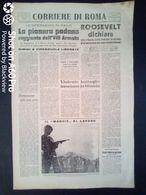 FASCISMO - CORRIERE DI ROMA N° 110 -  23 SETTEMBRE 1944 - PIANURA PADANA RAGGIUNTA DALL' VIIIa ARMATA - Guerre 1939-45