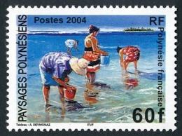 POLYNESIE 2004 - Yv. 735 ** TB  Faciale= 0,50 EUR - Paysage. Femmes Et Coquillages, Par A. Deymonaz  ..Réf.POL25288 - Polinesia Francesa