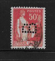 Perfore , Perfin France Paix  238  ,  Perfo  B  ,  Avignon , Tapis - France