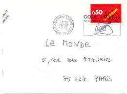 ILLE & VILAINE - Dépt N° 35 = RENNES GARE 1972 = FLAMME CONCORDANTE = SECAP Illustrée  'CODE POSTAL / MOT DE PASSE ' - Postleitzahl