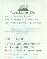 Fahrkarte Bahnhof Vilshofen -Kloster Aldersbach Landesausstellung Bayern 2016 VLP Verkehrsgemeinschaft Landkreis Passau - Bus