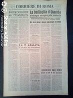 FASCISMO - CORRIERE DI ROMA N° 112 -  25 SETTEMBRE 1944 - VIIIa ARMATA A 25 KM SA BOLOGNA - DISCORSO DI TOGLIATTI - Guerre 1939-45