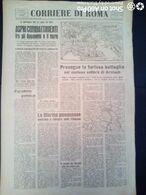 FASCISMO - CORRIERE DI ROMA N° 113 -  26 SETTEMBRE 1944 - MARINA GIAPPONESE SI RITIRA DALLE FILIPPINE - Guerre 1939-45