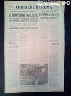FASCISMO - CORRIERE DI ROMA N° 114 -  27 SETTEMBRE 1944 - L' VIIIa ARMATA ATTRAVERSA IL RUBICONE - Guerre 1939-45