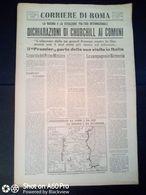 FASCISMO - CORRIERE DI ROMA N° 116 -  29 SETTEMBRE 1944 - CHURCHILL AI COMUNI - RIAPERTURA PROCESSO MATTEOTTI - Guerre 1939-45