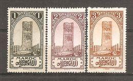 Marruecos Francés Yvert 98-101 (MH/*) - Ungebraucht