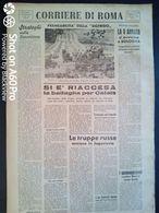 FASCISMO - CORRIERE DI ROMA N° 118 -  1 OTTOBRE 1944 - RIACCESA LA BATTAGLIA X CALAIS - V ARMATA VICINO BOLOGNA - Guerre 1939-45