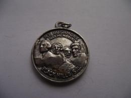 United States Of America - Mount Rushmore National Memorial Black Hills South Dakota Medal Medaille Ø 30 Mm - Otros