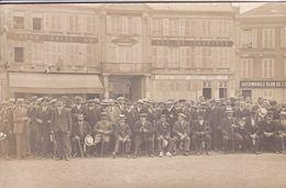 28 CHARTRES Carte Photo Façade Grand Hôtel Duc De Chartres ,Automobile Club De L'Ouest ,groupe De Personnages - Chartres