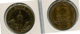 1981 Mons Bergen - 100 Courannoes - Token - Penning - Méraux De Communes - Nr 108 Brons Gepatineerd - Trein - Train - - Gemeindemünzmarken