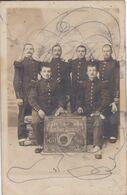 88 RAMBERVILLERS Carte Photo Classe 1906 Bataillon  Chasseurs  Les Amis Joyeux Avec Cor De Chasse - Rambervillers