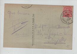 375PR/ TP 138 S/CP Adinkerke C.Ambulant Adinkerke-Gent (Gand) 13/9/1921 > BXL - Ambulanti