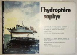 PLAQUETTE 1978 - HYDROPTERE SAPHYR - SNIAS - DTCM - MILITAIRE - Libri, Riviste & Cataloghi