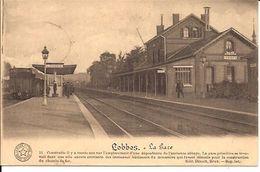 LOBBES  LA GARE Sars La Buissières 1915 Cacheté  Train Lütich>  Tergnier 1915 118 /d4 - Lobbes