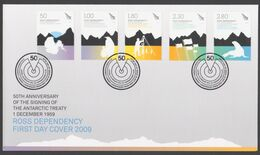 ROSS DEPENDENCY 2009 FDC 50th Anniversary Of The Signing Of The Antarctic Treaty - FDC