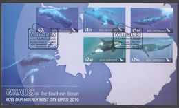 ROSS DEPENDENCY 2010 FDC Whales Of The Southern Ocean - FDC