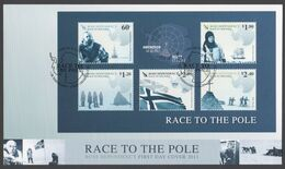ROSS DEPENDENCY 2011 FDC Race To The Pole Minisheet - FDC