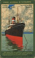 Art Card Paquebot Linea Austro Americana Trieste . Signed Micco.  . Austria. Fratelli Cosulich. - Steamers