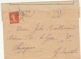ESC 10c Semeuse O. FB Hérault  1916, Censure Militaire  464 -> Perpignan (2 Scans) - Oorlog 1914-18
