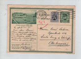 382PR/ Entier CP Illustrée 9/18 + TP 288 C.BXL  17/12/1931 > Santa Cruz De Tenerife Iles Canaries - Tarjetas Ilustradas