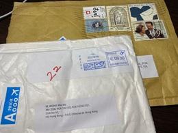 Lot Of 2 BELGIQUE Belgie Belgium Stamped Covers To Hong Kong - Belgium